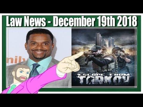 Legal News Review for 12/19/2018 LIVESTREAM