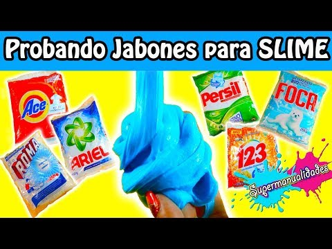 ¿Qué jabón polvo sirve para SLIME? 💦SUPERMANUALIDADES💦