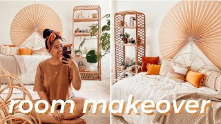EXTREME ROOM MAKEOVER | Bohemian Minimalist Aesthetic 2020 *Urban Outfitters INSPIRED*