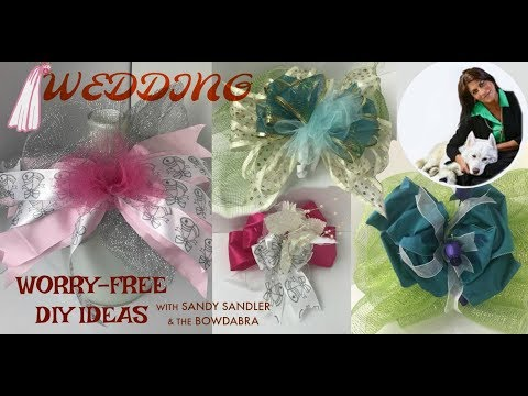 How to Make Worry Free DIY Wedding Veil, Decor and Pew Bow