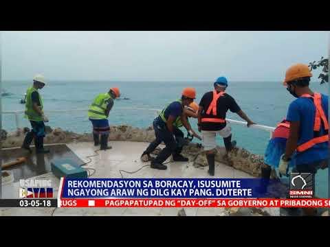 Rekomendasyon sa Boracay, isusumite ngayong araw ng DILG kay pangulong Duterte