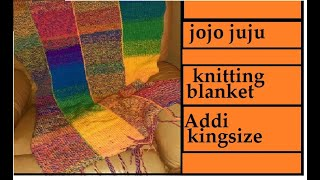 HOW TO KNIT A BLANKET   KNITTING MACHINE