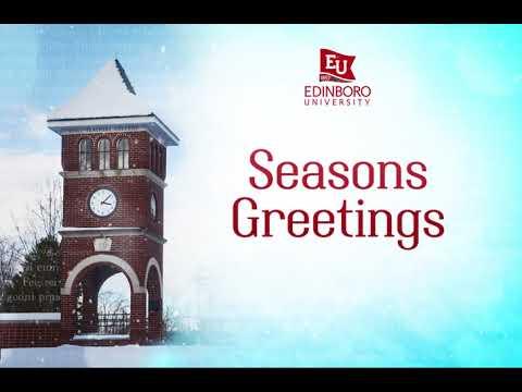 Edinboro University 2017 Holiday Greeting