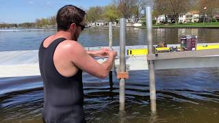 Easy DIY One-Person Dock and Pier Installation With Foam Floats and Max Dock MaxLoc Supports