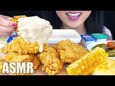ASMR CHEESY FRIED CHICKEN + RAW HONEYCOMB Mukbang (No Talking) | Crunchy Eating Sounds | ASMR Phan