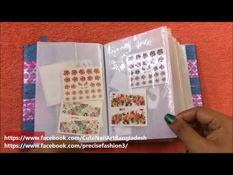 DIY your Nail Stickers Organizer     How to keep your Nail Stickers Safely  2018