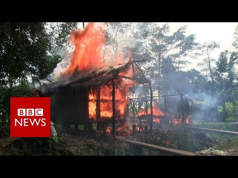 Who is burning down Rohingya villages?