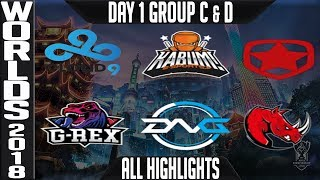 Worlds 2018 Day 1 Highlights Play in Stage ALL GAMES