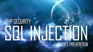 PHP Security   SQL Injection Example And Prevention