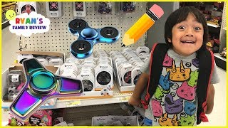 Back to School Shopping and Fidget Spinner Toy Hunt with Ryan's Family Review