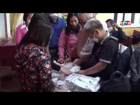 Doanh nghiệp trao 5000 khẩu trang cho huyện Vũ Thư để hỗ trợ người nghèo