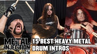15 Greatest Drum Intros Of Heavy Metal Countdown | Metal Injection