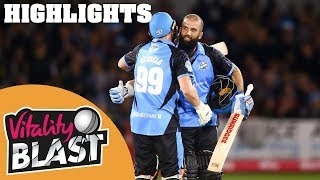 Sussex Sharks v Worcestershire Rapids | Moeen Ali Masterclass | Vitality Blast 2019 - Highlights