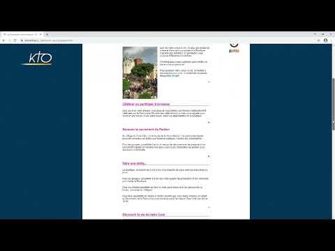 Le site web du sanctuaire d'Ars