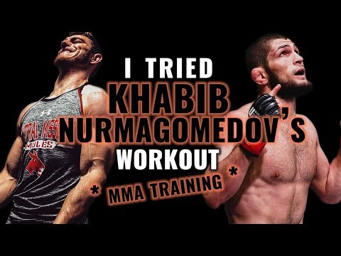 I Tried KHABIB NURMAGOMEDOVS Workout (MMA Training)
