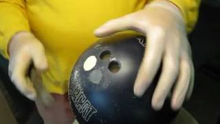 Bowling Ball DIY - Finger Hole Plug Grinding