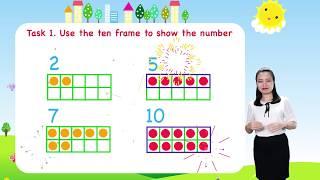 Math For Kids - Lesson 18. Ten Frame For Kids   Kindergarten