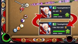 Changing 53K Coins into 118 Milion Coins - Jakarta to Berlin without Losing Any Game - 8 Ball Pool