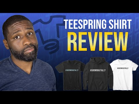 Teespring review of my 1st shirt! Teespring shirt quality check