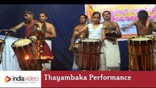 Thayambaka Performance -Chemba Kooru