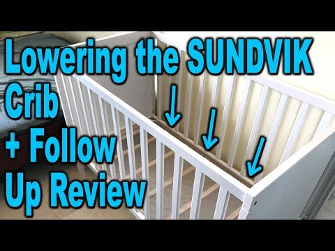 Changing Bed Height on an IKEA SUNDVIK Crib – Demonstration and Review – Clueless Dad