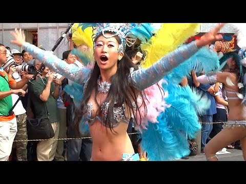 【 池袋サンバ 2014 ☆ ウニアン  女子大生ダンス ♪ 】 学生サンバチーム  池袋サンバカーニバル 2014