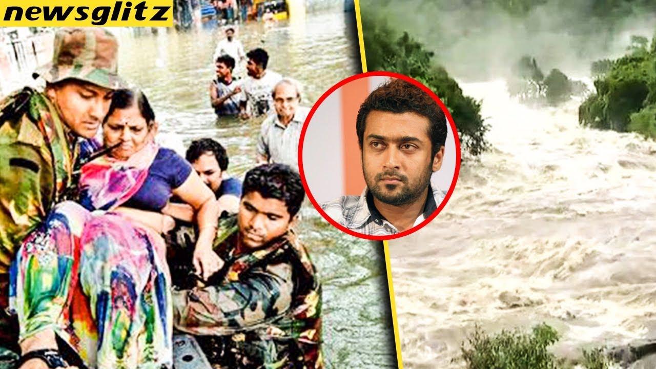 வெள்ளத்தில் மிதக்கும் கேரளா   Suriya Donates 25 Lakhs to Kerala Flood Relief