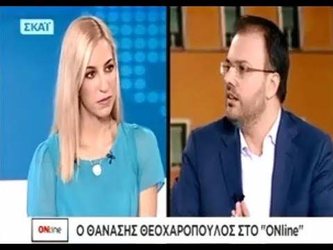 Θανάσης Θεοχαρόπουλος: «Στόχος μου είναι η δημιουργία νέου, ενιαίου και όχι πολυκομματικού φορέα»