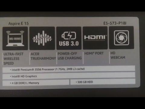 Acer Aspire E 15 E5-573-P18j Windows 10 Installation