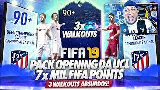 90+ ABSURDO!!! 3x WALKOUTS 😱 PACK OPENING CHAMPIONS LEAGUE - FIFA 19 ULTIMATE TEAM
