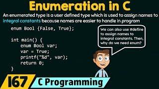 Enumerations in C