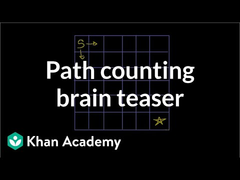 Path counting brain teaser (video) | Puzzles | Khan Academy