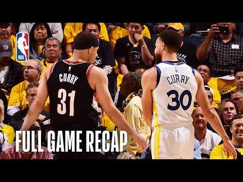 Download TRAIL BLAZERS vs WARRIORS | Steph Gets Hot From Deep | Game 1 HD Mp4 3GP Video and MP3