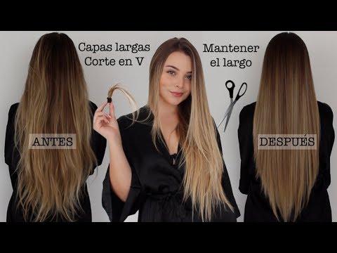 ¿Cómo cortar tu cabello en capas largas y en V? (Manteniendo el largo) - Maqui015 ♥