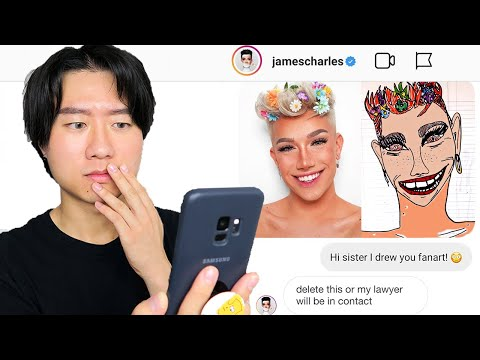 I drew 9 popular beauty gurus ugly fanart and sent them as DMs *i'm getting sued*