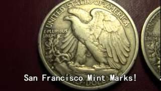 US Walking Liberty Silver Half Dollars - 1942-S & 1943-S