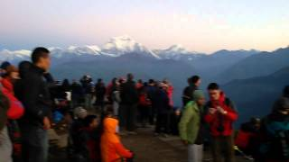preview picture of video 'Panoramic View From Poon Hill Before Sunrise, Ghorepani Annapurna Himalayan Range , Nepal'