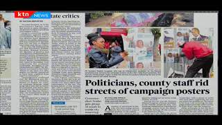 Several politicians remove their posters