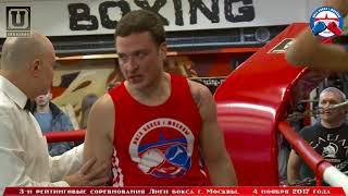 3-е рейтинговые бои Лига бокса г. Москвы – 04.11.17 г. до 81 кг.