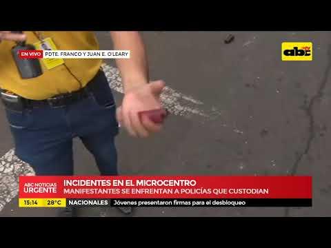 Incidentes en el microcentro