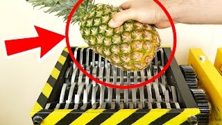 SHREDDING Pineapple and other Fruits! - Satisfying video