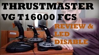 Thrustmaster T16000M FCS Review and Light Disable