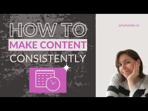I'm struggling to create content consistently. 4 Steps to help you create consistent content