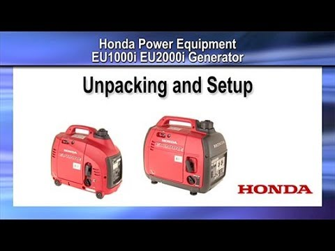 Honda Power Equipment EU1000i with CO-MINDER in Davenport, Iowa - Video 1