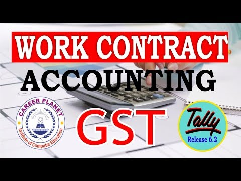, title : 'GST Work Contract Accounting in Tally ERP 9 Part-64| Construction Work Accounting with GST Tally