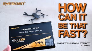 Best Mavic Pro Battery Charger | DroneMax MP18A from Energen | Fastest on the market.