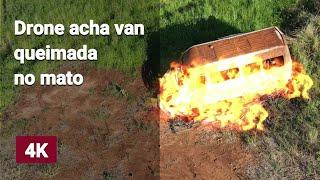Drone acha Van queimada (Mavic Air 2)