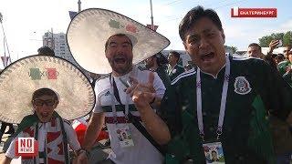 Mexican and Swedish fans in Yekaterinburg / Шествия болельщиков Мексики и Швеции