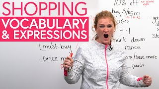 English Vocabulary & Expressions for SHOPPING in North America
