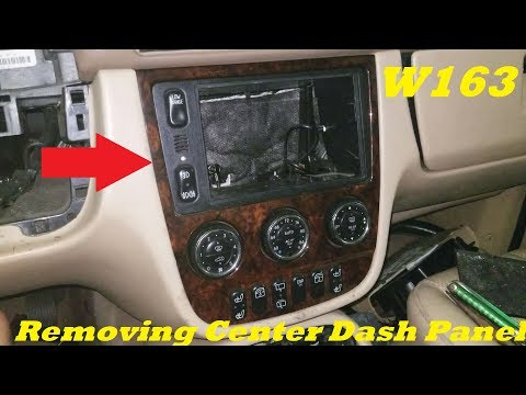Joying android 7 inch GPS head unit installation in Mercedes Benz ML